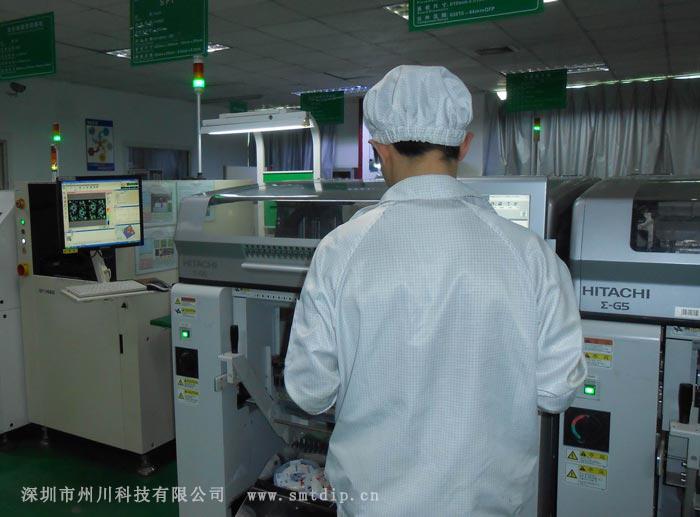 深圳州川科技的SMT贴片加工车间
